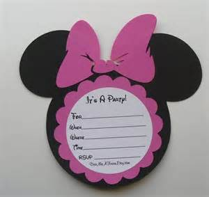 minnie mouse invitation diy kit by doomeafavor on etsy