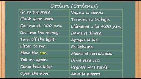 preguntas en español traducidas en ingles como aprender ingl 233 s como ordenar o dar instrucciones en