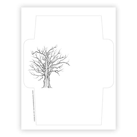 free printable envelope template tree the postman s knock