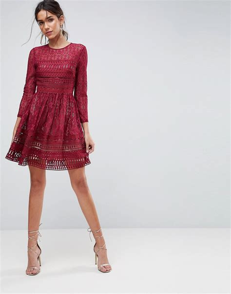 Dress Mini Vb Premium asos premium lace mini skater dress dresslover uk