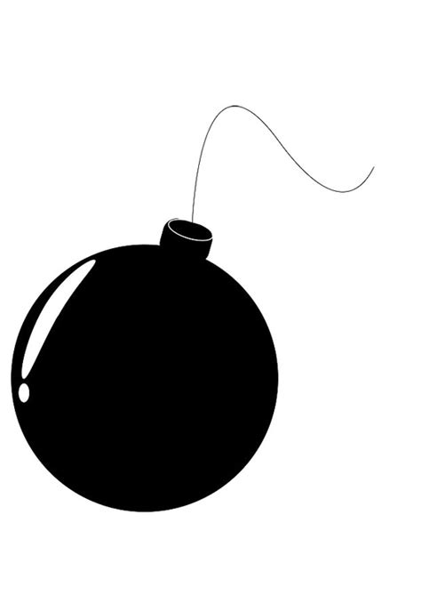 Malvorlage Bombe - Kostenlose Ausmalbilder Zum Ausdrucken.