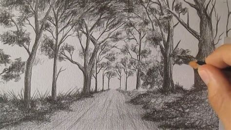 how to draw landscape how to draw a landscape with pencil step by step timelapse