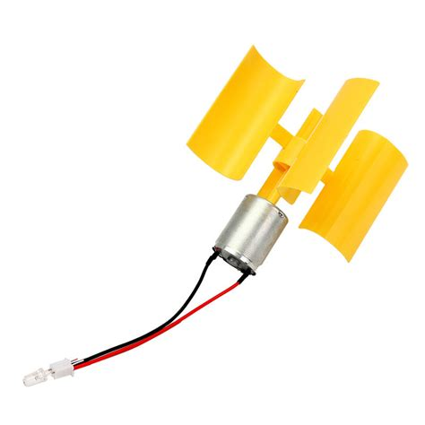 Lu Led Motor Blade dc micro motor small led lights vertical axis wind