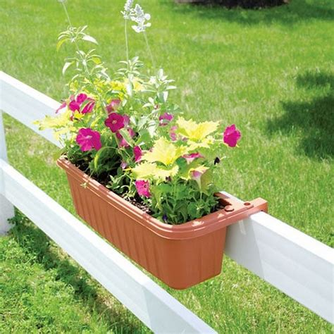 rail hanging planters charming garden decor ideas dearlinks