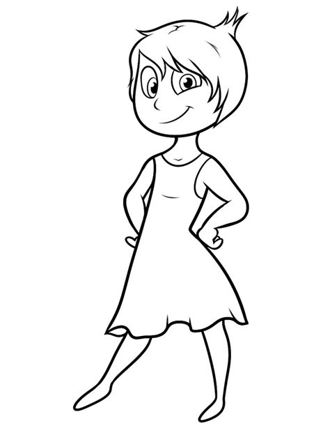 inside out team printable coloring page for kids and adults inside out disegni da colorare