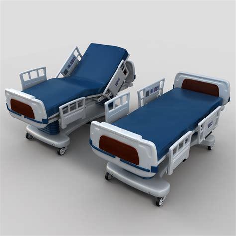 medical bed hospital bed 3d model