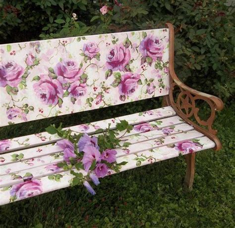 garden benches pinterest beautiful painted garden bench diy crafts gardens