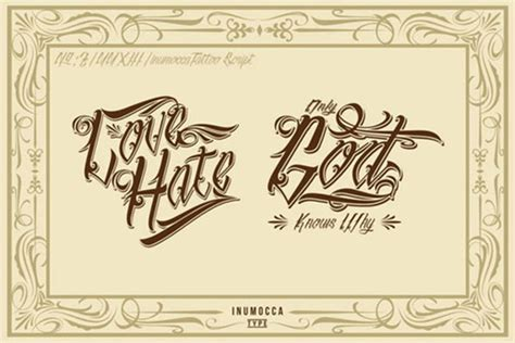 tattoo fonts joined up 24 best fonts freebies that ink up your designs