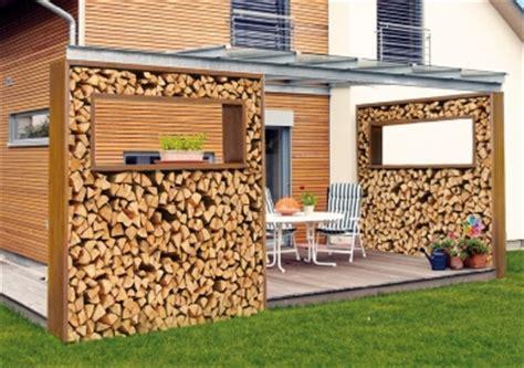 Sichtschutz Mit Brennholz by Sichtschutz