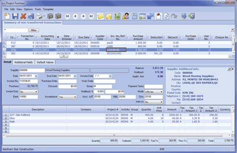 Construction Project Management Software Erp Maestro Microsoft Access Erp Template