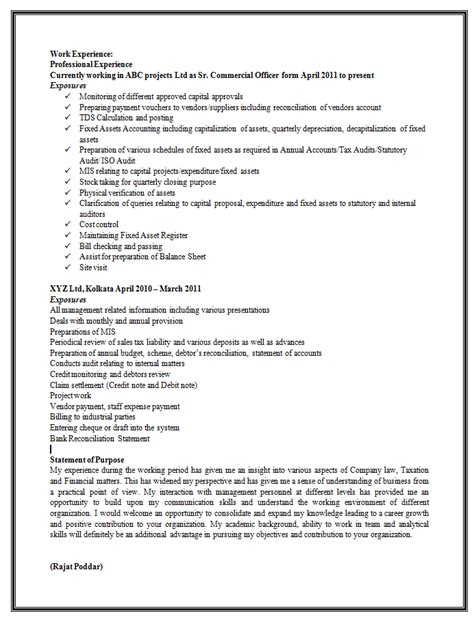 Resume Format For Experienced It Professionals Doc 10000 Cv And Resume Sles With Free Sle Resume Format For Experienced