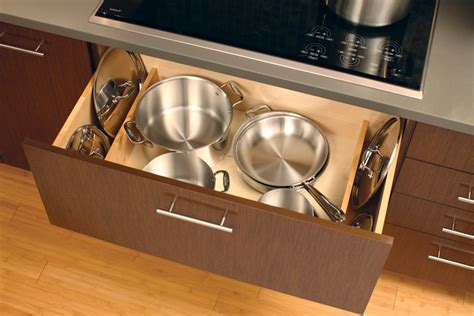 kitchen pull out drawers for pot storage front porch cozy pots pans storage cookware cabinets dura supreme