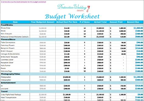 Super Simple Destination Wedding Planning Spreadsheets Wedding Pinterest Wedding Wedding Cost Spreadsheet Template