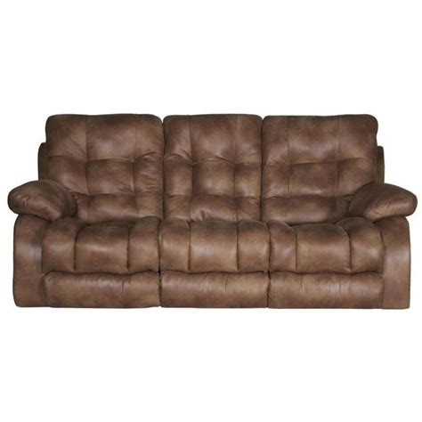 lay flat recliner sofa catnapper watson power lay flat reclining sofa in almond