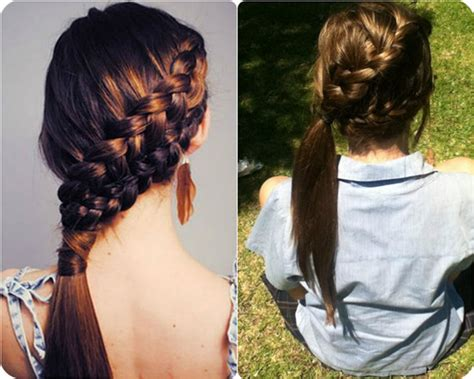 how to braid extensions into your hair braided side ponytail archives vpfashion