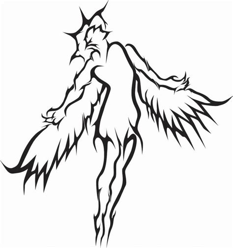 tribal angel tattoo tribal archangel www pixshark images