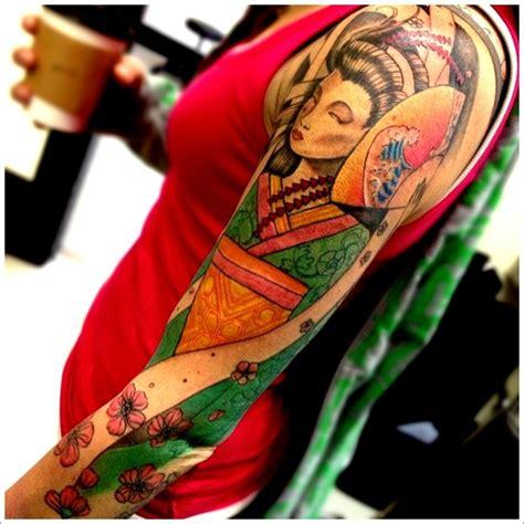 geisha tattoo sleeve designs full sleeve geisha tattoo design geisha tattoo designs