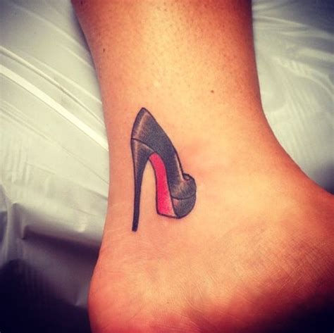 christian louboutin heels tattoo by luke wessman in soho