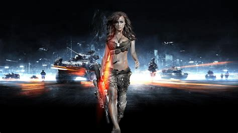 wallpaper game hot rosie jones battlefield 3 gun video games