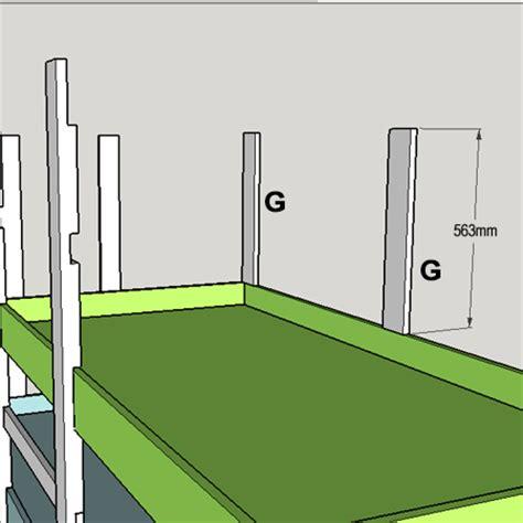 bunk bed dowels project plans diy 3 level bunk beds tools4wood