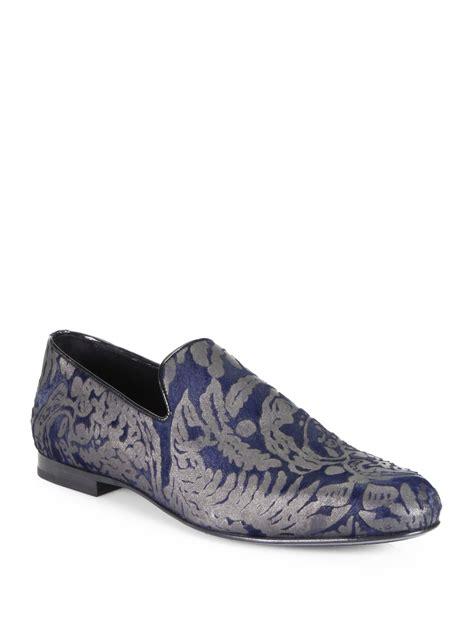 brocade slippers jimmy choo sloane brocade slippers in blue for navy