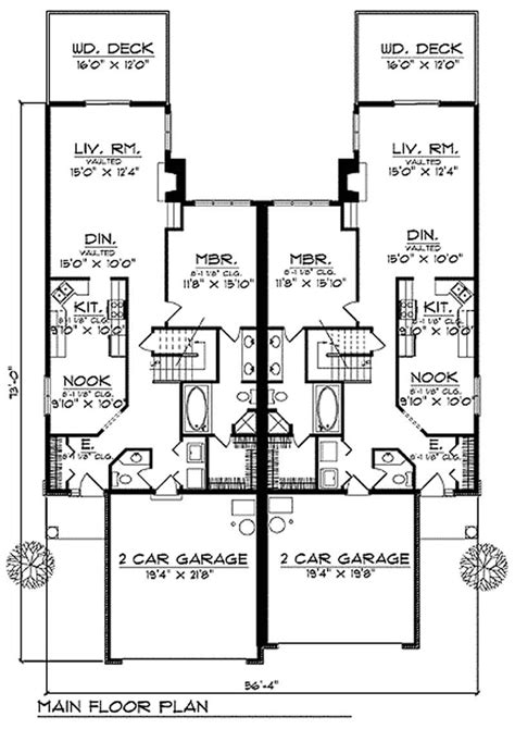 Multi Unit House Plans by Multi Unit Luxury Multi Unit Home With 3 Bedrooms 3568