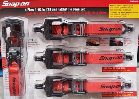 new heavy duty set of 4 snap on 1 1 2 quot ratchet tie