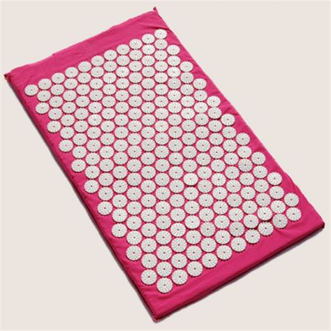 comfort acupuncture acupuncture mat with bag pink