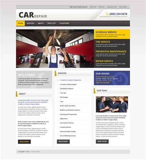 Car Repair Responsive Website Template 46162 Car Repair Responsive Website Template Free