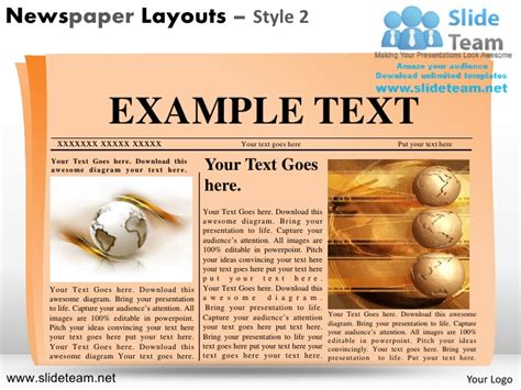 Newspaper Layouts Design 2 Powerpoint Ppt Slides Powerpoint Newspaper