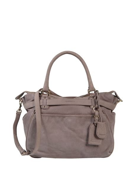 dove grey leather bruno medium leather bag in gray dove grey lyst