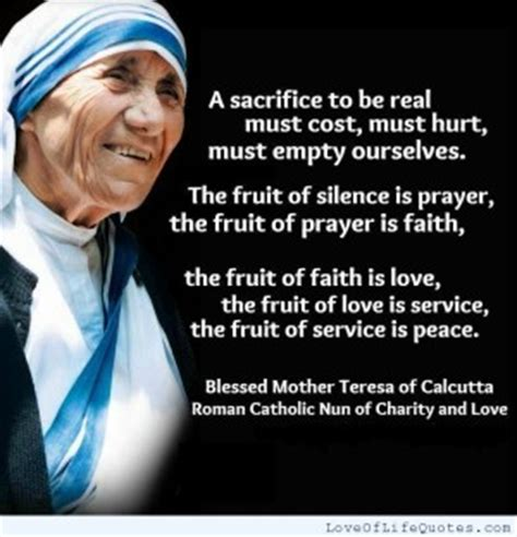 true biography of mother teresa quotes about love and sacrifice quotesgram