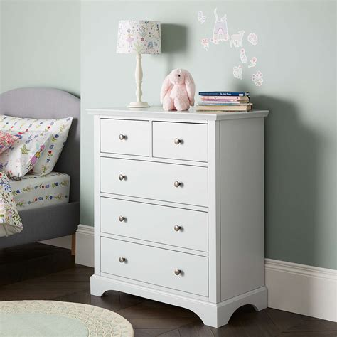 Grace Chest 5 Drawer lewis darton 5 drawer chest grey at lewis