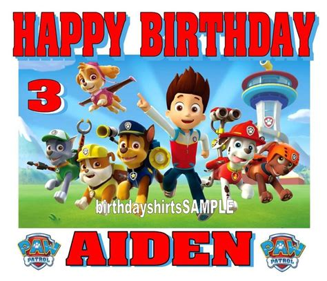 new personalized custom paw patrol birthday shirt favor gift ebay