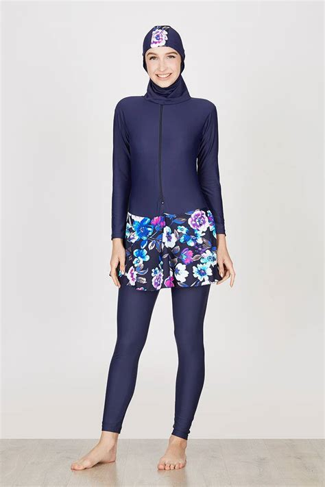 Laris Edora Sport Baju Baju Renang Muslimah Dewasa Es Fcm 002 1 sell baju renang muslimah dewasa dongker motif bunga