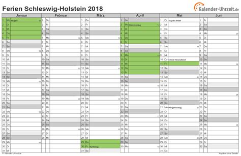 ferien schleswig holstein 2018 ferienkalender zum ausdrucken