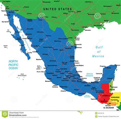 Houston To Cancun Mexico carte du mexique images libres de droits image 25978749