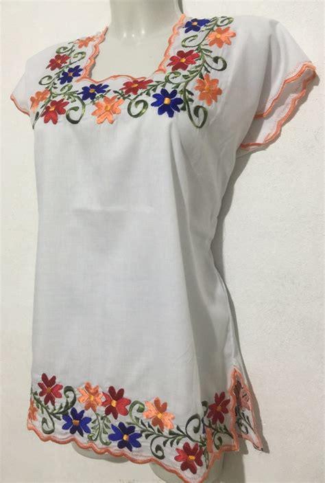 bordado para huipil blusa yucateca tipica huipil con bordados 335 00 en