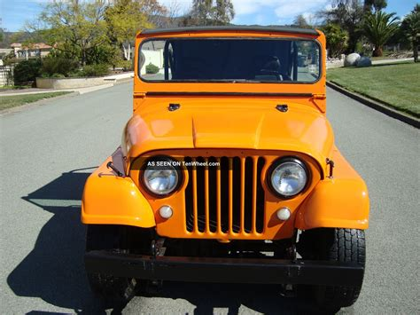 sunset orange jeep 1965 willys jeep cj5 4x4 sunset orange