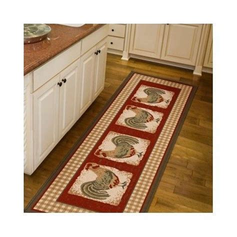 kitchen floor runner rug mat rooster country home decor