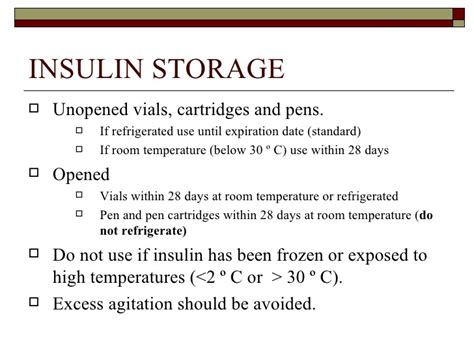 How Can Insulin Be Stored At Room Temperature by Insulin Ce