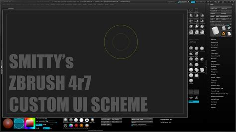 zbrush tutorial interface smitty s custom zbrush 4r7 ui by art by smitty on deviantart