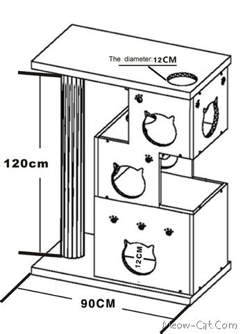 cat tree furniture plans  woodworking