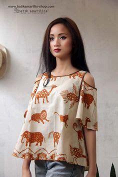 Hem Wanita Top Magie contoh model baju batik wanita terkini style contoh model baju batik model baju
