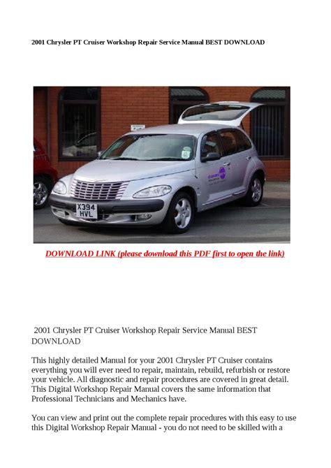 online auto repair manual 2001 chrysler pt cruiser engine control 2001 chrysler pt cruiser service repair manual download autos post
