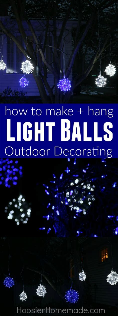how to make christmas light balls how to make light balls inspiration hoosier