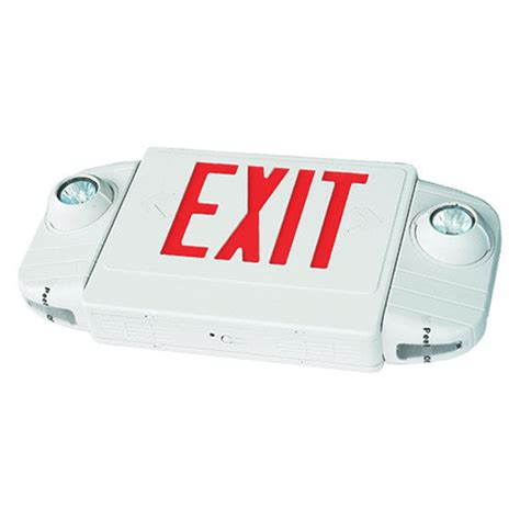 Lu Emergency Combo Bulb combo led exit sign and emergency lights lighting e4ar ebay