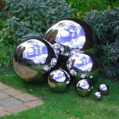 Landscape Pictures With Balls How To Make Mirrored Gazing Balls For The Garden The