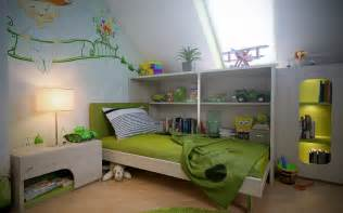 green childrens bedroom ideas attic spaces green white boys room wall mural interior