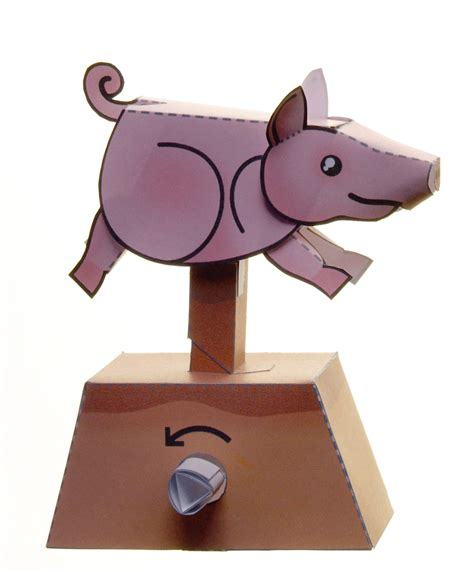 Automata Papercraft - running pig paper automaton by kamibox on deviantart